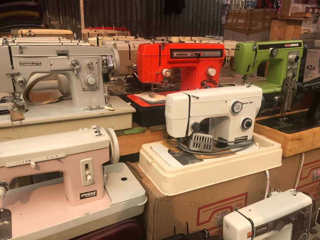 Vintage sewing machines for sale at Makola Market Accra Ghana