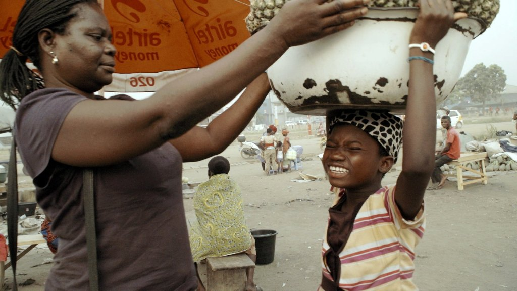 A scene from Kayayo The Living Shopping Baskets Movie