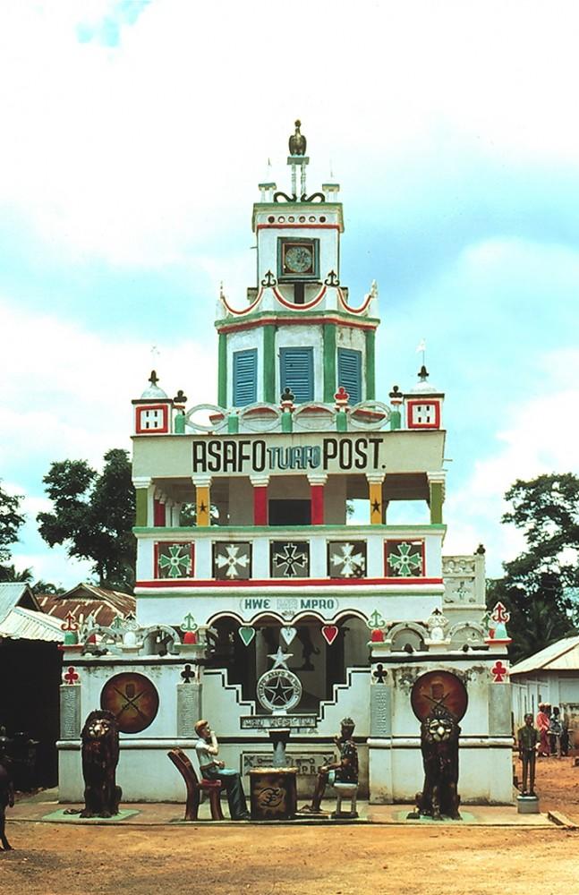 Posuban shrine in Makasim photo by Doran Ross