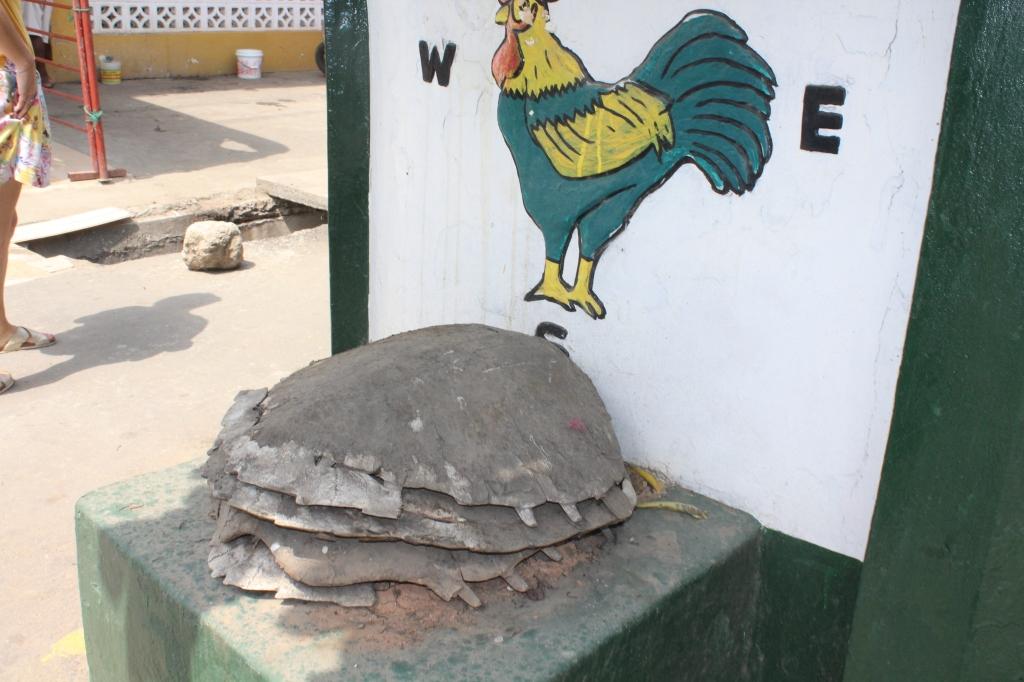Turtle Asafo Posuban shrine at Cape Coast Ghana