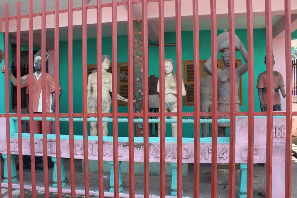 Posuban shrine at Elmina Adam and Eve