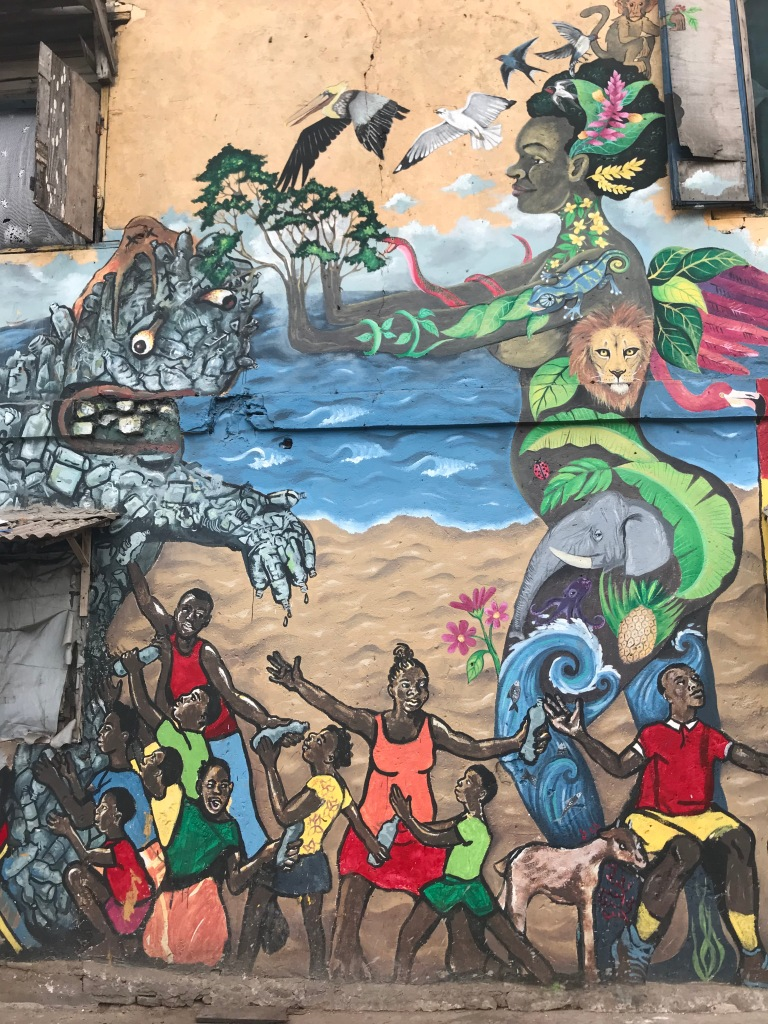 Mural in Jamestown Accra Chale Wote festival