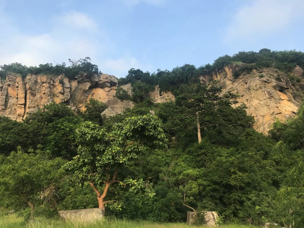 Rock faces as you enter the Shai Hills Resource Reserve Accra Ghana